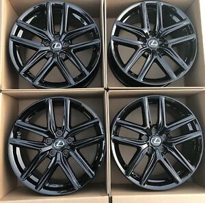 18 Lexus F Sport Is350 Is250 Original Oem Factory Black Wheels Rims