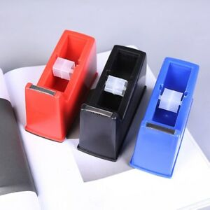 3pcs Desktop Classic Tape Dispenser Nonskid Base Adhesive Roll Holder For Office