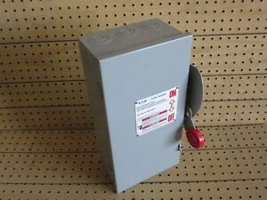 Cutler Hammer Disconnect Dh261ugk 30a 600vac dc 2 pole warranty Included