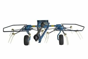 Ranch Rite Pull 2 Rotor Hay Tedder 10 Working Width With Pto Free Shipping