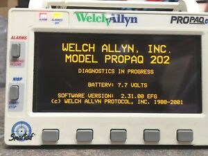Welch Allyn Propaq Encore Model 202 El Multi Parameter Vital Signs Monitor
