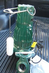Waste mate Auto Submersible Sewage Pump 1hp 230v 1 Phase Zoeller D284