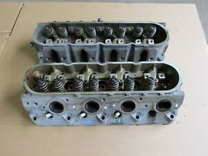 Ls6 Ls2 Gen Iii Gm Chevy Cylinder Heads 799 Casting Pair One Head Damaged