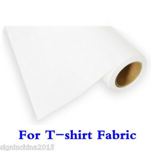 19 7 X 98 Roll White Color Printable Heat Transfer Vinyl For T shirt Fabric