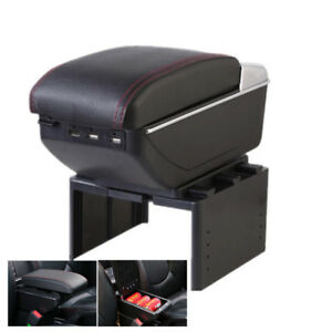 Universal Pu 7 Usb Rechargeable Style Car Central Container Armrest Box Storage