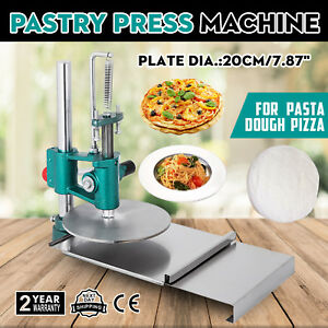 7 8inch Manual Pastry Press Machine Commercial Dough Chapati Sheet Pizza Crust
