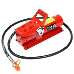 10 Ton Portable Power Air Hydraulic Foot Pump Control Lift Replacement 10000 Psi