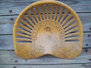 Vintage Early Original Walter A Wood Cast Iron Tractor Seat Implement Seat