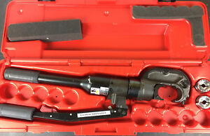 Burndy Hypress Y750hs Hydraulic Manual Operated Crimper With 1 0 And 2 0 Dies