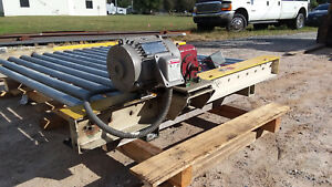 Powered Roller Pallet Box Conveyor 72 Inside Width 61 Oal 230 460v Used
