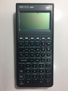 Hp 48gx Graphing Calculator Pack W Installed Topcon Fc 48gx Card