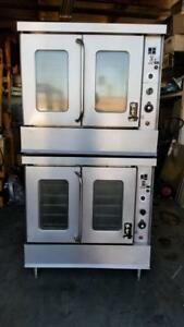 Montague 2 115a G Nat Gas Double Stack Full Size Convection Oven Sn A2 d 49821h