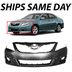 New Primered Front Bumper Cover Replacement For 2010 2011 Toyota Camry Se