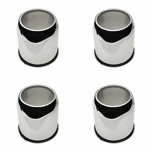 4x Ion Wheel Center Hub Caps Chrome Push through Open end 4 25 Diameter For 136
