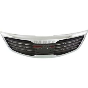 New Grille Chrome Shell Front Fits 2013 Kia Sportage 863503w030