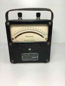 Vintage Weston Electrical Instrument Corp Model 430 Dc Voltmeter No 13275