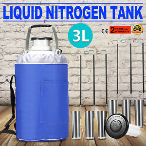 3l Liquid Nitrogen Container Ln2 Tank Dewar Storage Refrigeration Portable