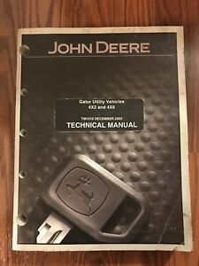 John Deere Gator Utility Vehicle 4x2 4x4 Service Repair Technical Tech Manual
