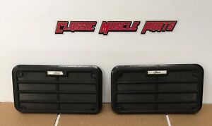 69 70 Ford Mustang Mach 1 Boss Shelby 8 Track Am Fm Black Door Speaker Grilles