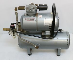 Gast 2laf 10 m200x 1 4hp Air Compressor 50 Psi 3 5 Bar 2l Series Oilless Piston