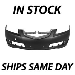 New Primered Front Bumper Cover Replacement Fascia For 2007 2008 Acura Tl 07 08