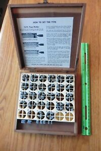 Vintage Kingsley Hot Foil Stamping Machine Type Letters Box 30 Pt Balloon Bold