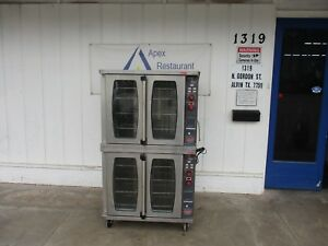 Lang Ecsf es Double Stack Electric 208 240v 3 Phase Convection Oven 3599