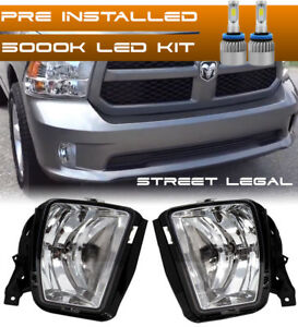 For 2013 2018 Dodge Ram 1500 Bumper Replacement Led Fog Lights Housing Assembly