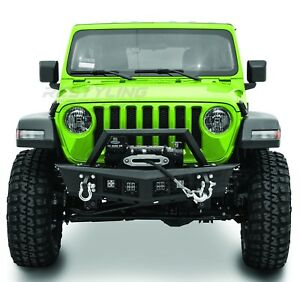 Falcon Iii Front Bumper 4x Mount Led Winch Plate For 18 19 Jeep Wrangler Jl