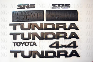 For 2007 2013 Toyota Tundra Matte Black Out Emblem Badges Tailgate 9 Piece Kit
