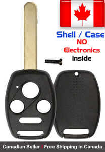 1x New Replacement Keyless Remote Control Key Fob Shell Case For Honda Accord