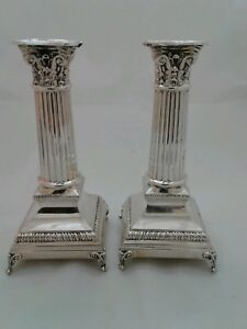Pair Of 925 Sterling Silver Candlesticks
