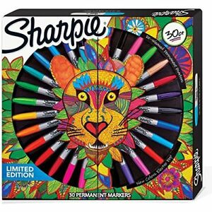 Sharpie Limited Edition 30 Count Permanent Markers 6 Ultra Fine 18 Fine And 6