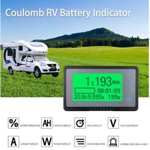 Battery Monitor Coulomb Meter Dc 120v 50a Capacity Tester Lithium Lead acid Car