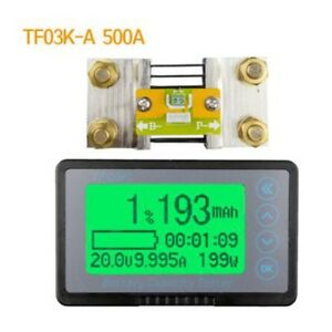 Battery Monitor Coulomb Meter Dc 120v 500a Capacity Tester Lithium Lead acid Car