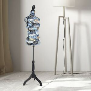 Adjustable Height Female Mannequin Dress Form Torso Display Stand Tripod Base Us