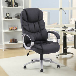 Office Chair Task Ergonomic Executive Recliner High Back With Heavy Duty Base