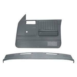 For Chevy S10 82 85 Dashboard Cover Medium Gray Dash Cover Door Panels Combo