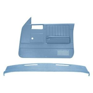 For Chevy S10 82 85 Dashboard Cover Light Blue Dash Cover Door Panels Combo