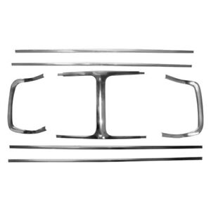 For Dodge Charger 1969 Auto Metal Direct Complete Grille Molding Set