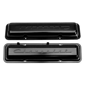 For Chevy Camaro 1967 Auto Metal Direct Paintable Script Valve Covers