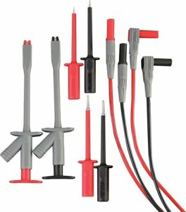 Extech Tl810 Electrical Test Lead Kit 8 piece Double Insulated