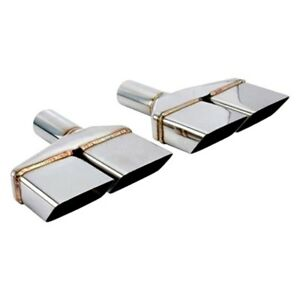 Exhaust Tip Vintage Series Passenger Side Challenger Style Rectangular Angle Cut