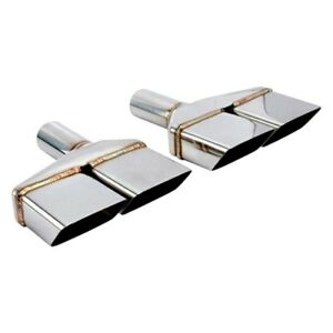 Exhaust Tip Vintage Series Driver Side Challenger Style Rectangular Angle Cut