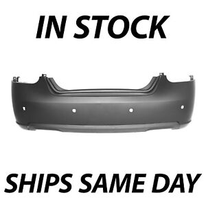 New Primered Rear Bumper Cover For 2007 2008 Nissan Maxima W Park Assist 07 08