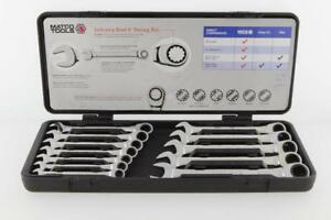 Matco Tools S9grcm12 12 Pc 90 Tooth Metric Combination Ratcheting Wrench Set