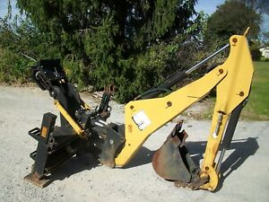 Caterpillar Bh30w Backhoe Attachment For Skid Steer 3rd Valve Cat