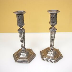 Vintage Tiffany Co Sterling Silver Candlesticks