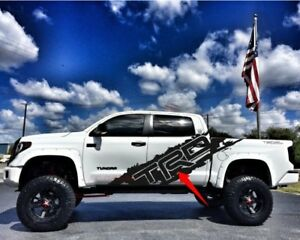 Toyota Tundra Trd Side Body Decal Stickers Splatter Splash Off Road Matte Black