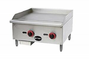 Saba Heavy Duty Commercial 24 Countertop Manual Griddle Mg 24